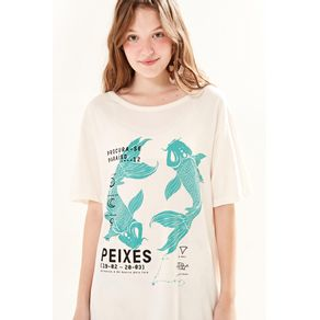 T-Shirt Silk Peixes - Farm - Farm Rio BR - Migrado 19/08/2020