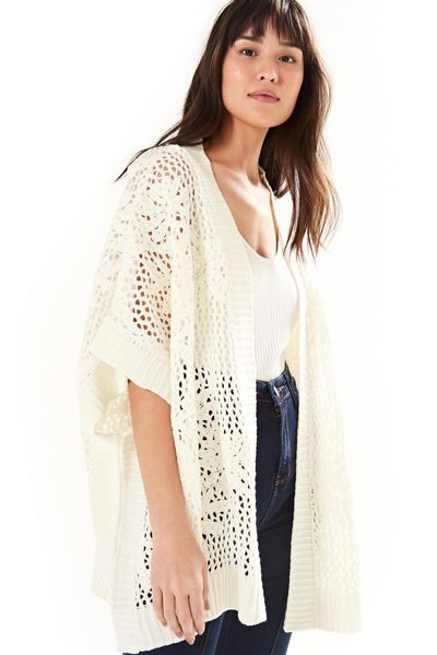 Sobreposicao Tricot Bordado - Off White - U