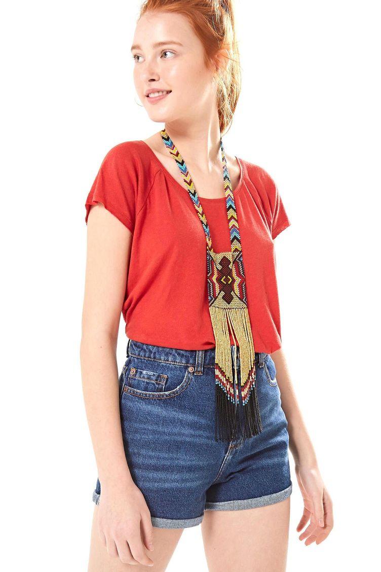 2c1c4a565 Moda Feminina - Blusa Vermelho P – Farm