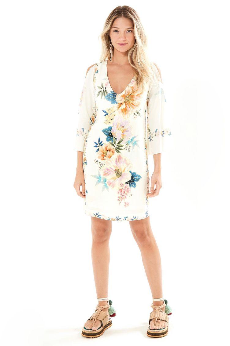 4942c2d94 Vest em Moda Feminina - Vestido Estampado G – Farm