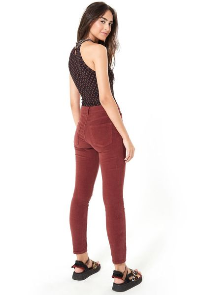 Calca Skinny Veludo Color