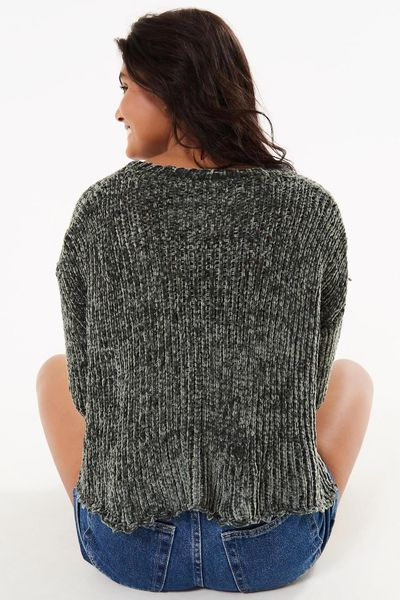 Sweater Tricot Veludo