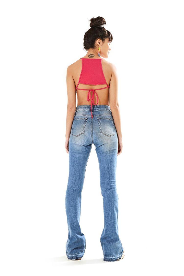 a3a4e393c Calca Flare Jeans - Farm