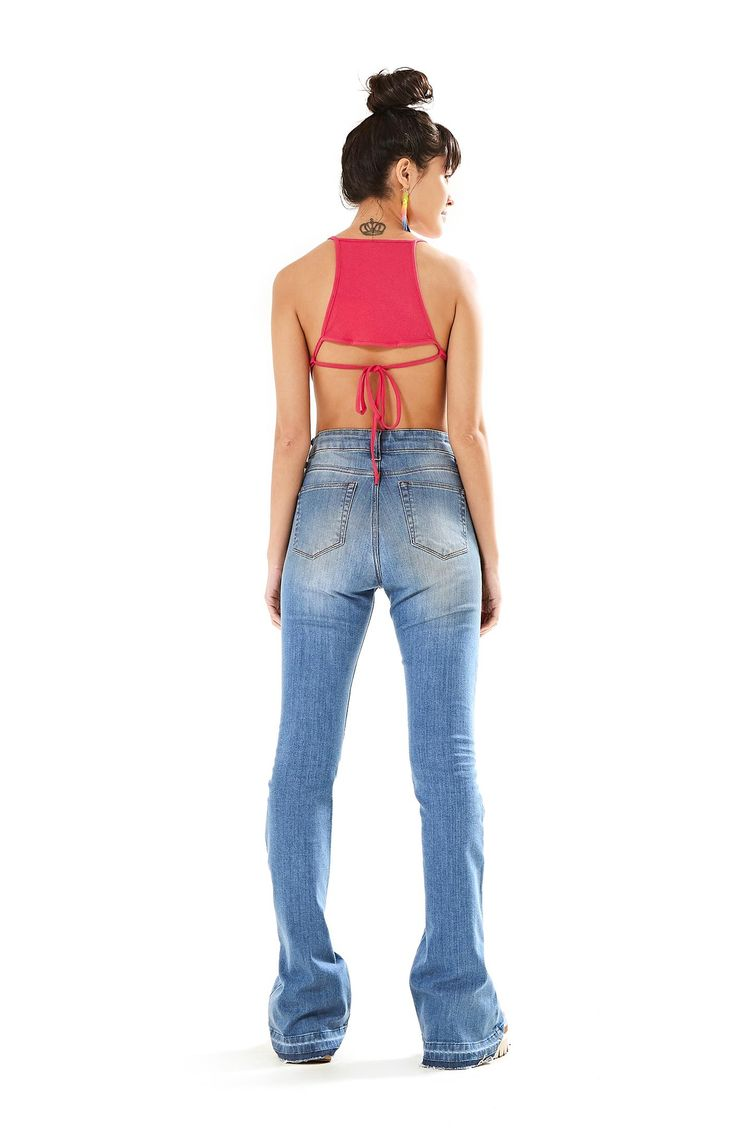 77c87847f186c Calca Flare Jeans - Farm