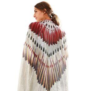 Kimono Paete Voando - Est Voando_Off White - U - look-abre-asas - Farm Rio BR