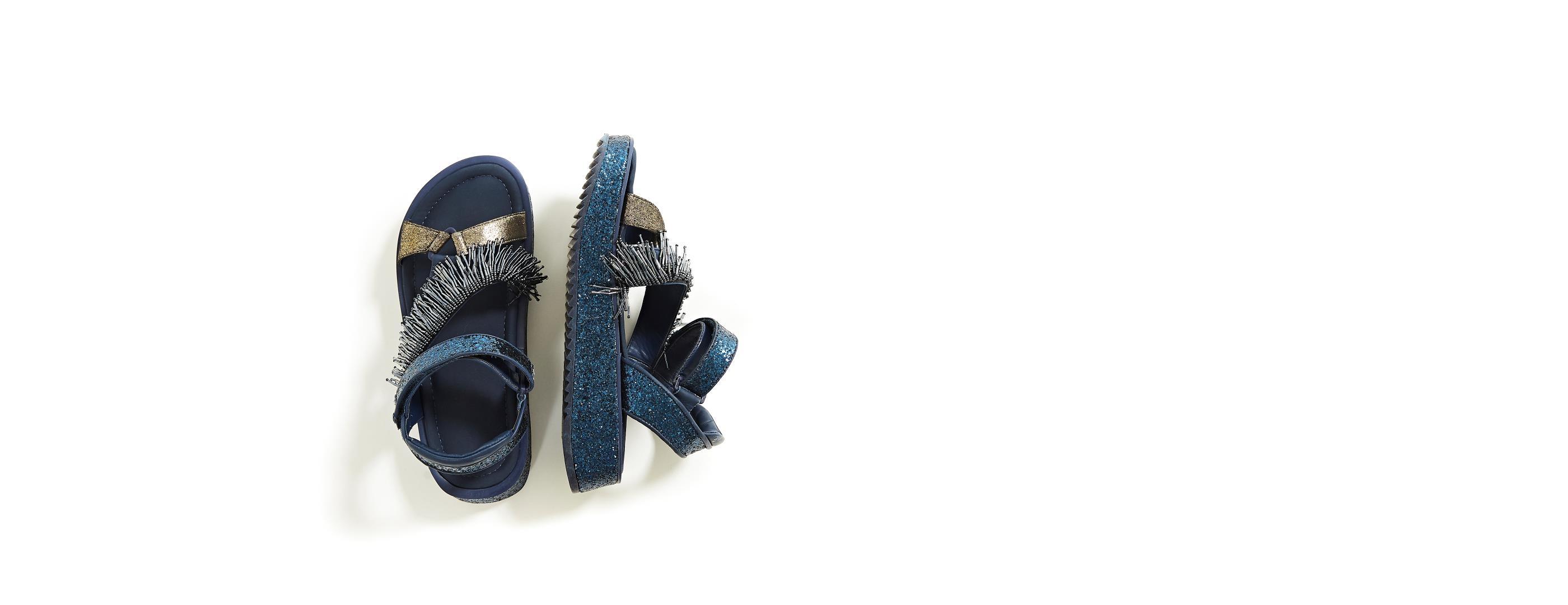 9b81dbc042 Sandalia Glitter Azul - Farm