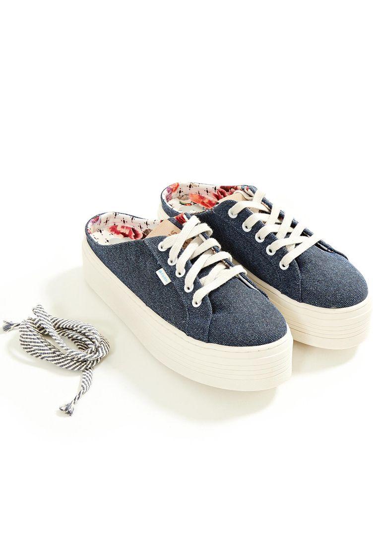 667c186f403 Tenis Laje Mule Azul Jeans