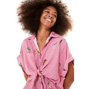 Camisa Cropped Me Leva - Farm - Farm Rio BR