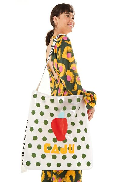 Maxi Bolsa Silk - Est Poa_Farmlab_Off_White - U