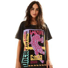 T-Shirt Onça Ginga - anunciação - Farm Rio BR
