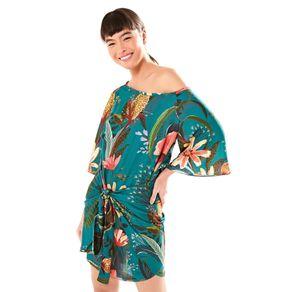 Vestido Curto Flor De Onça - anunciação - Farm Rio BR