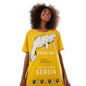 T-Shirt Peixe Boi - Farm - Farm Rio BR - Migrado 19/08/2020