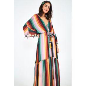 Vestido Listra Iris Lurex - Farm - Farm Rio BR
