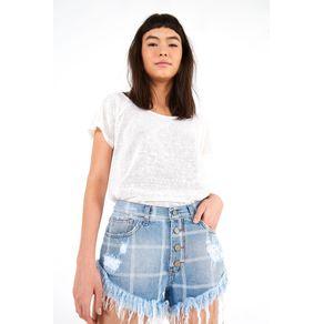 Short Jeans Xadrez - Farm - Farm Rio BR