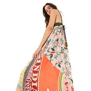Vestido Top Crochet Patch Astral - look-abre-asas - Farm Rio BR - Migrado 19/08/2020