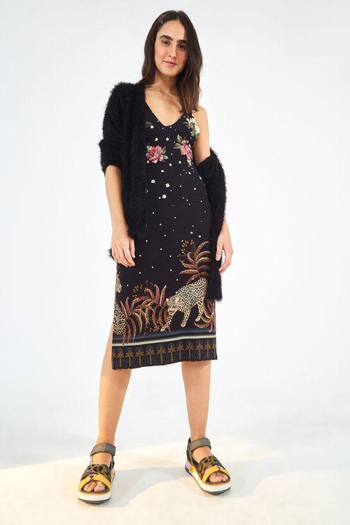 8d477b72730b vestidos FARM: longo, midi e curto com estampa | FARM