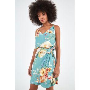 Vestido Transpasse Floral Hannah - Farm - Farm Rio BR
