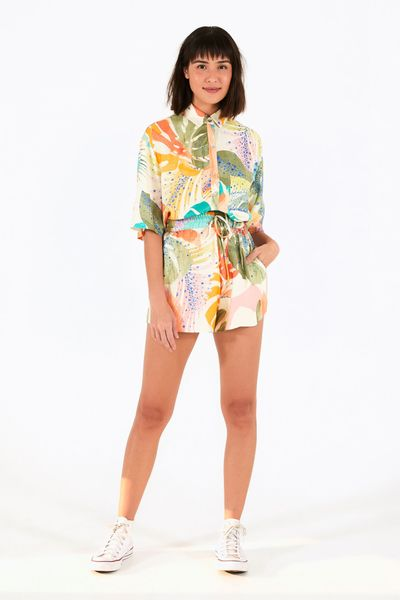 Camisa Fenda Splash Tropical
