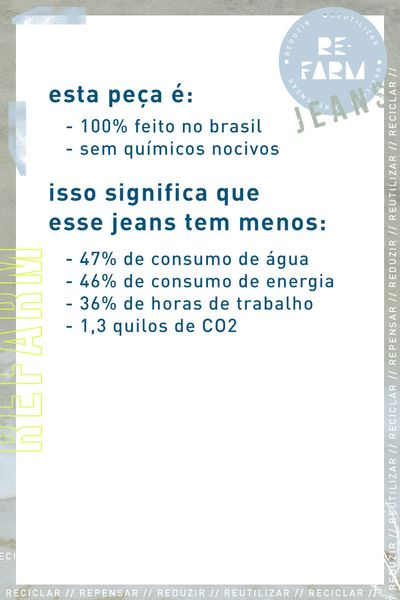 Calca Clochard Botoes Refarm Jeans