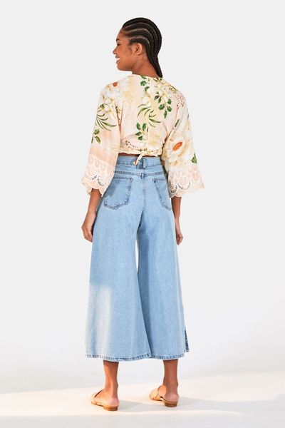 Calca Cropped Fenda Refarm Jeans