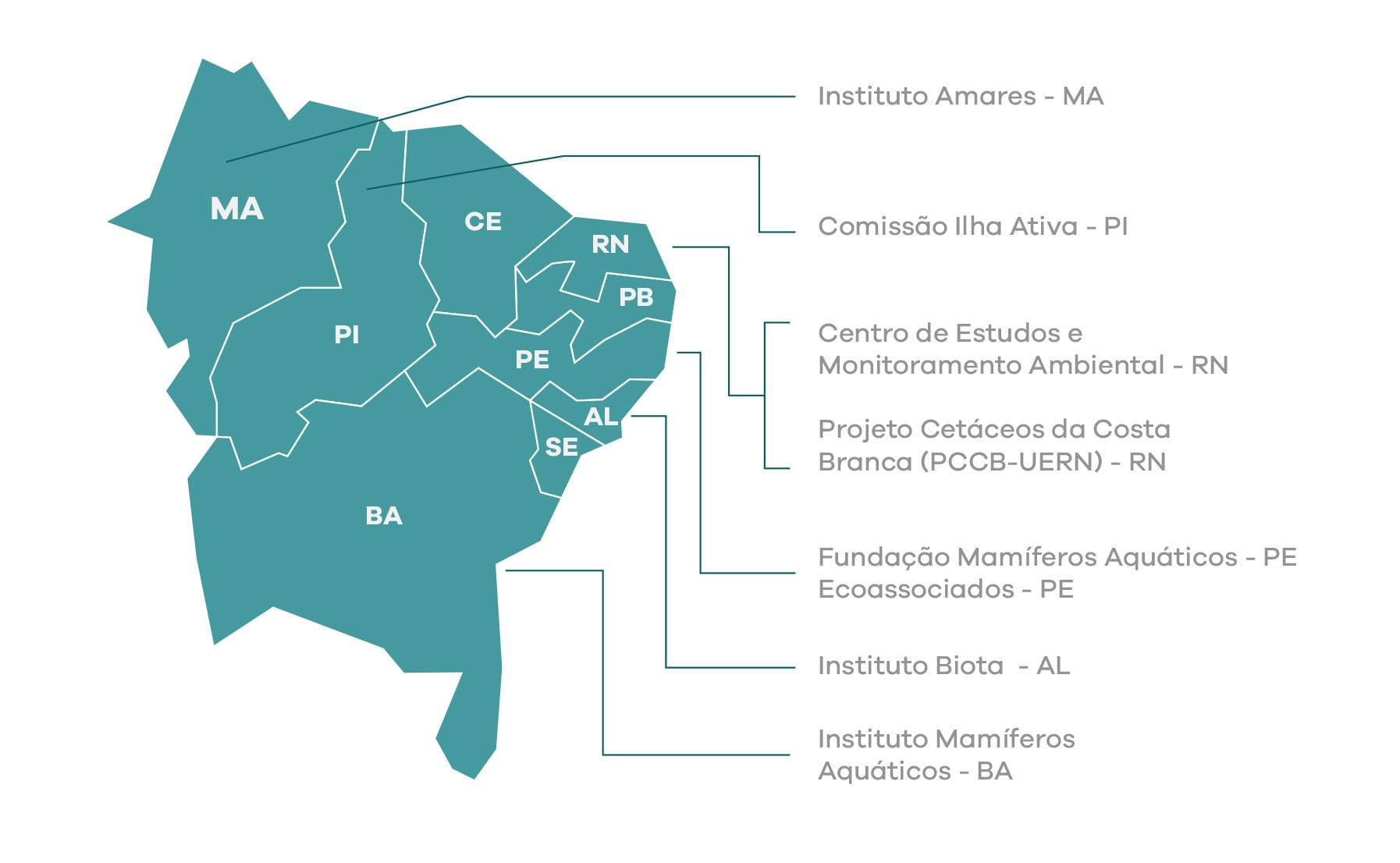 mapa das ongs beneficiadas pela FARM